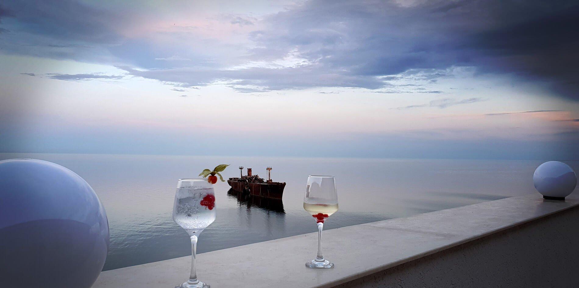 Vedere de pe terasa Black Sea View Costinești